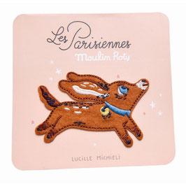 """Bestickter Aufnäher Hund """"Les Parisiennes"""" von Moulin Roty"""