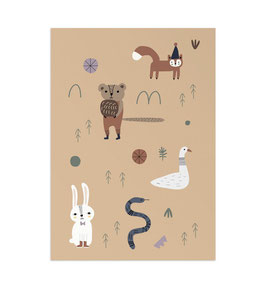 Wald Art Print von Little Otja