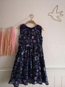 lila geblümtes Trägerkleid von Anna Sui Mini