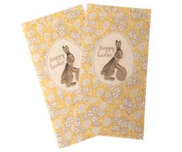 """Gelbe Servietten """"Happy Easter"""" von Maileg"""