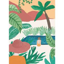 """Postkarte """"Palme"""" von A-Journal"""