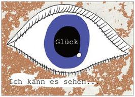 """Postkarte"""" Ich kann es sehen, das Glück"""" von Käferkind"""