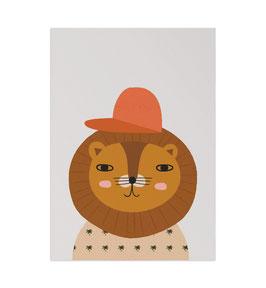 Löwe Art Print von Little Otja