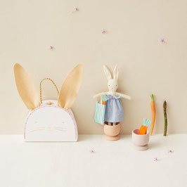 "Minihasenpuppe im Koffer ""Bunny mini suitcase doll"" von Meri Meri"