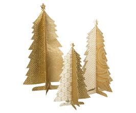 3er Set goldene Papierbäume von Maileg