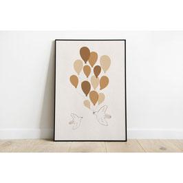 """Poster """"Ballon Birds"""" von Studio bydiede"""