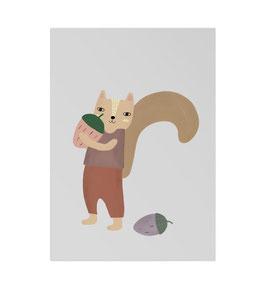 Lotta das Eichhörnchen Art Print von Little Otja