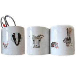 Porcelain Sticker Tiere von Nuukk