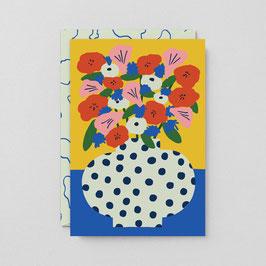 """Klappkarte """"Blumen"""" von Wrap"""