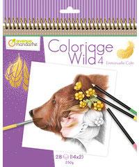 "Malbuch ""Coloriage Wild 4"" von Avenue Mandarine"