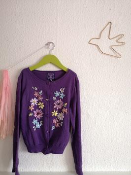 "lila Strickjacke ""Blumen"" von Anna Sui Mini"