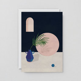 """Klappkarte """"Blaue Vase & Blatt"""" von Wrap"""