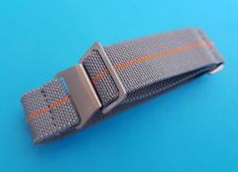 Parachute elastic Nato Strap 22 mm grau orange 9108
