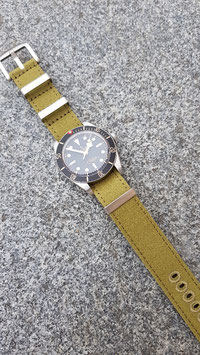Canvas strap 20 mm oliv 7937
