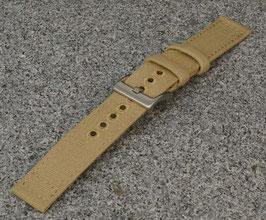 Canvas strap 22 mm sand split - zweiteilig 8347