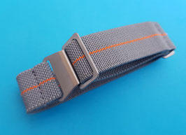 Parachute elastic Nato Strap 20 mm grau orange 9092