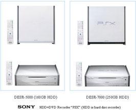 De twee PSX modellen van DESR-5000 en DESR-7000 PlayStation 2-games.tweedehands