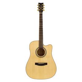 Chitarra acustica elettrificata Goldwood® CS-DCE-ME-NG con custodia semirigida