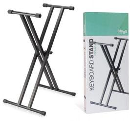 Stand per tastiera e piano digitale a doppia gamba Stagg KXSQ6