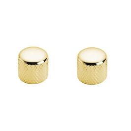 Coppia Manopole in metallo dorato Stealton per potenziometri zigrinati