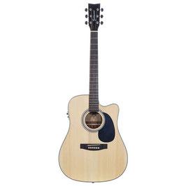 Chitarra acustica elettrificata Goldwood® PS-DCE-NS con custodia semirigida
