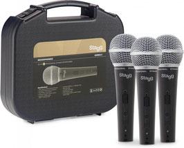 Kit microfoni dinamici Stagg sdm50, 3 pezzi
