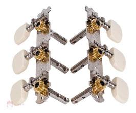 Meccaniche per chitarra/acustica classica vintage (albero in metallo)