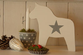 Rosamine Schwedenpferd white w. grey star