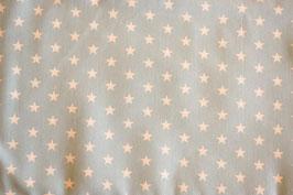 Baumwollstoff Sterne blau