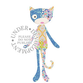 Tilda Material-Set Kit Patch Cat, 60cm