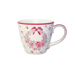 GreenGate Tasse, Flora white Limited Edition