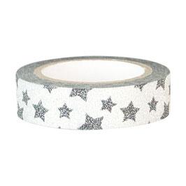 GreenGate Klebeband, Star silver