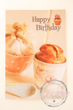 Rosamine Postkarte Happy Birthday