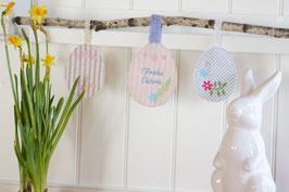 Rosamine Ostereier Anhänger, Flowers