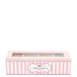GreenGate Tee- oder Kaffeekapselnbox / Ordnungsbox, Amelie rosa
