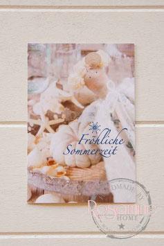 Rosamine Postkarte Fröhliche Sommerzeit
