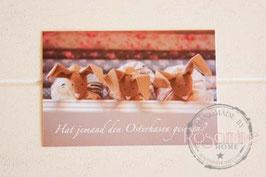 Rosamine Postkarte Osterhasen