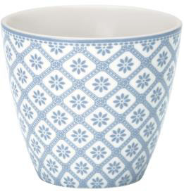 GreenGate Milchtasse, Bianca dusty blue