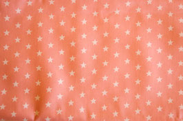 Baumwollstoff Sterne rosa