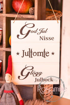 Rosamine Schild God Jul, Kerpen