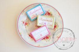 Rosamine Handmade-Labels, 3er Set