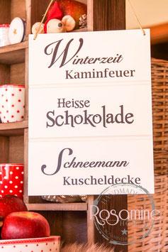 Rosamine Schild Winterzeit, Kerpen