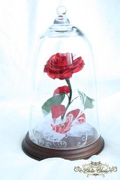 美女と野獣 一輪の薔薇 ガラスドームS