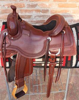 "SELLA BRAZOS REINING/COWHORSE 16"""