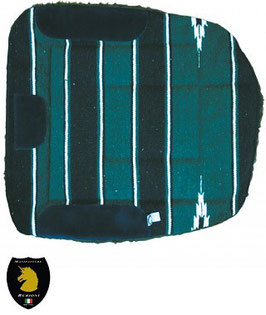Sottosella da barrel imbottito esterno tessuto navajo o pile bordo lana sintetica e rinforzi in pelle