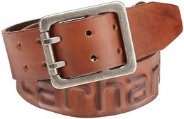 CARHARTT  Cintura logo in cuoio
