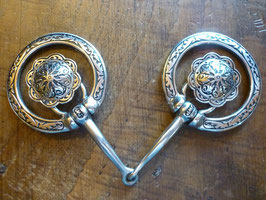 JWP SNAFFLE BIT- Fancy Ring Conchos