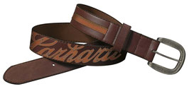 CHARHARTT  Cintura in cuoio Logo Patch Belt da donna