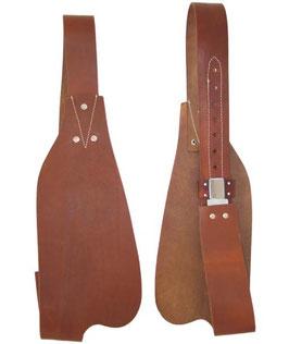 Fender in cuoio artigianale per selle western, la coppia