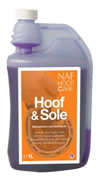 NAF Hoof and Sole disinfettante e indurente per zoccoli e forchetta 1 litro